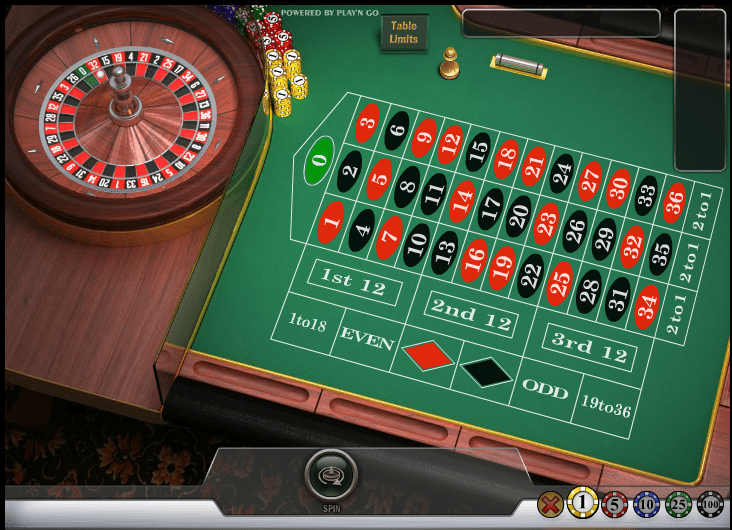 Make your bets at the Roulette table