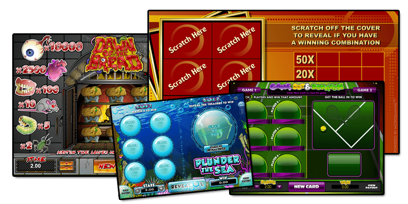 You can play scratch cards online